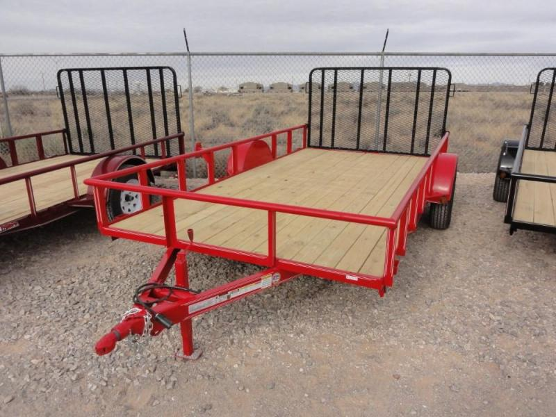 7 x 14 Single Axle Utility - Ramp Gate @ Red Barn Trailers