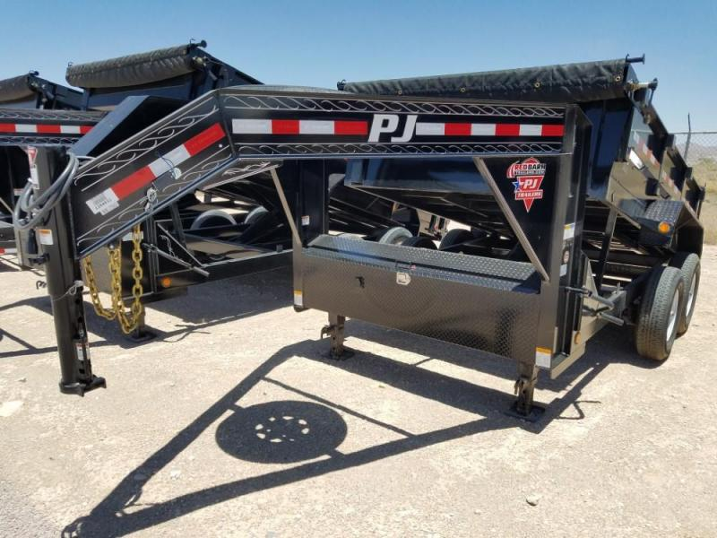 83 X 12 GOOSENECK DUMP TRAILER (D7) @ Red Barn Trailers