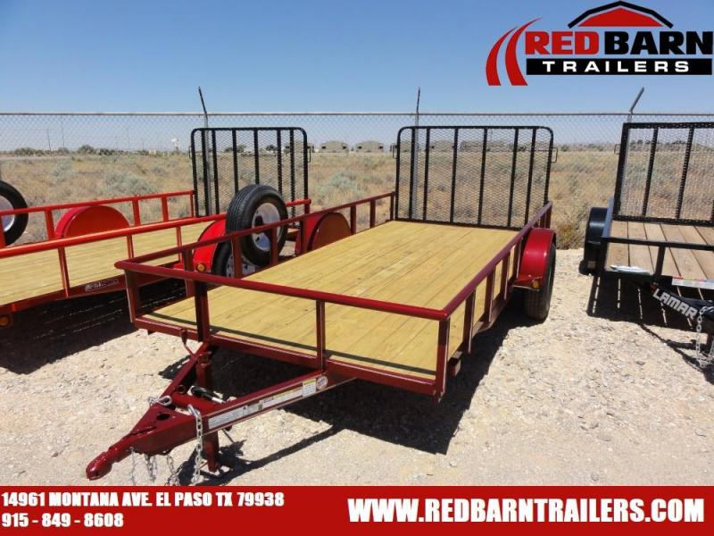 6.5 x 14 Single Axle Utility - Ramp Gate @ Red Barn Trailers