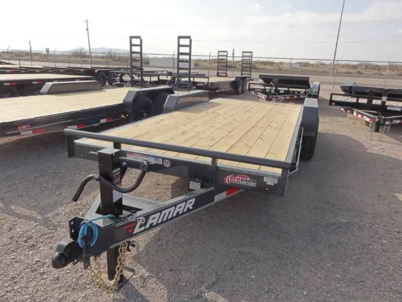 7 X 18 2019 Lamar Trailers Equipment Hauler (H6) 14K-16K Car / Racing Trailer @RED BARN TRAILERS