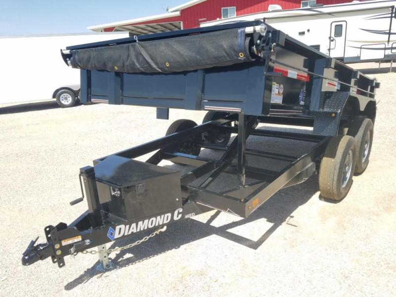 6.5 X 12 Diamond C Medium Dump Trailer @ Red Barn Trailers