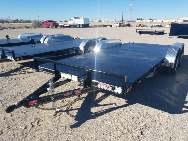 "7 X 18 10K 4"" Channel Carhauler (C4) Car / Racing Trailer @ RED BARN TRAILERS"