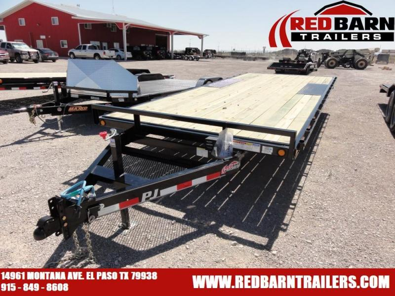 102 X 20 2020 PJ Trailers L6202 Flatbed Trailer @RED BARN TRAILERS