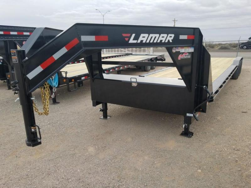 2019 Lamar Trailers 102 X 38 Heavy Duty Equipment Hauler (H8) Trailer @RedBarnTrailers