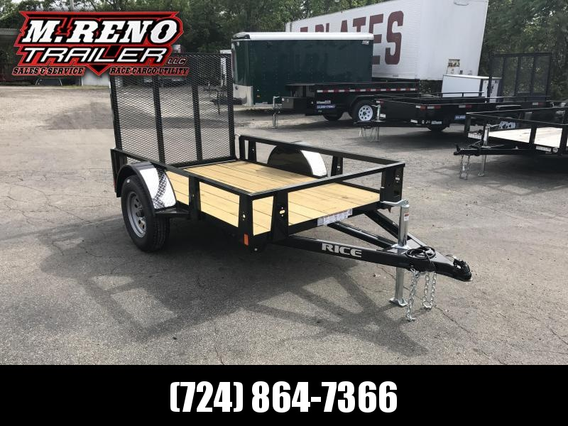 2018 Rice RS58 Utility Trailer
