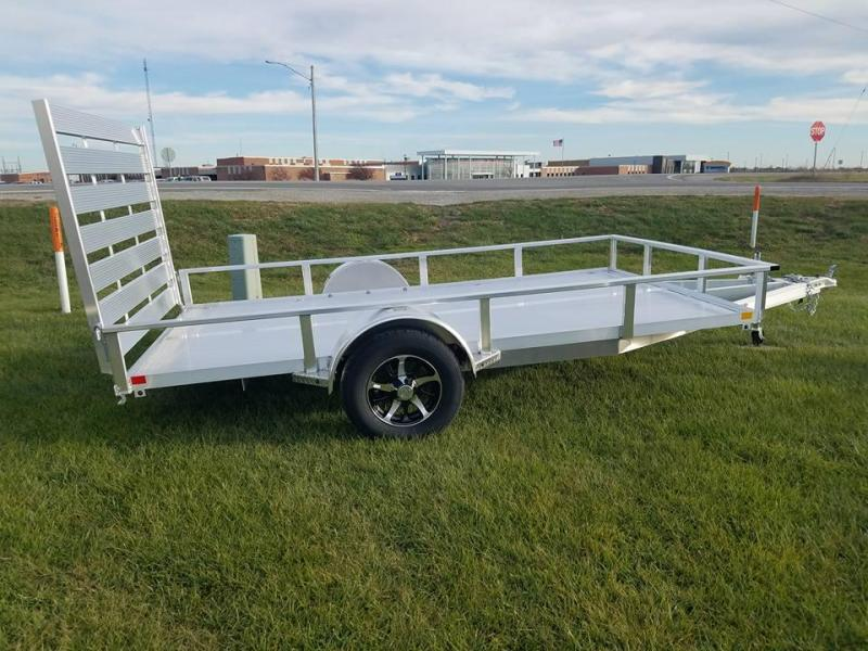 2018 H and H Trailer 82x12 Aluminum Rail Side Utility Trailer