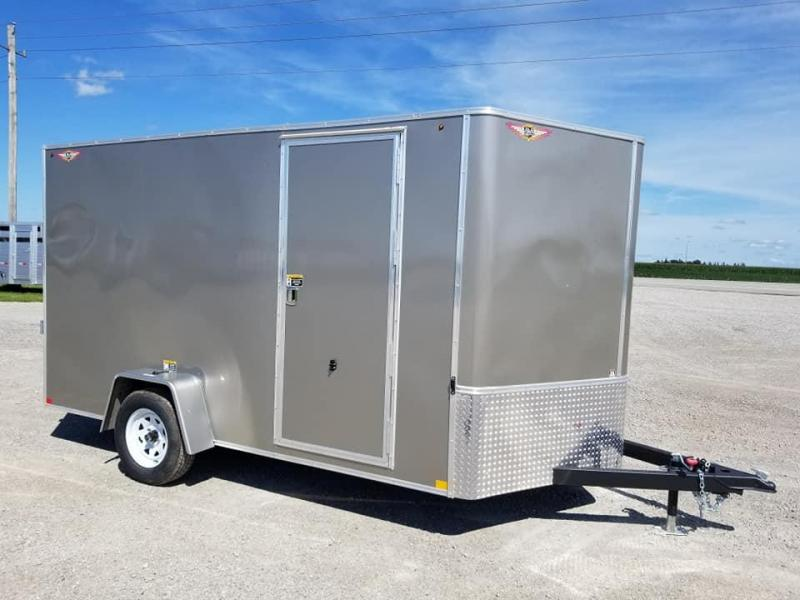 2019 H and H Trailer 7X12 Enclosed Cargo Trailer