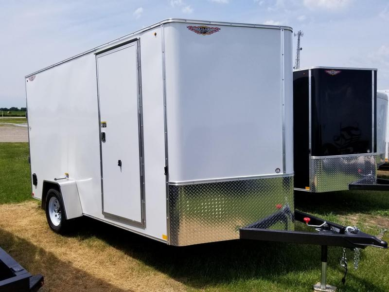 2018 H and H Trailer 7x12 Single Axle Enclosed Cargo Trailer