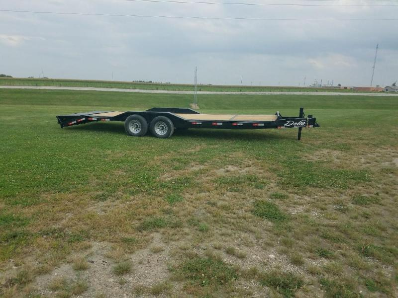 2018 Delta Manufacturing 27EB 102 Wide Equipment Trailer