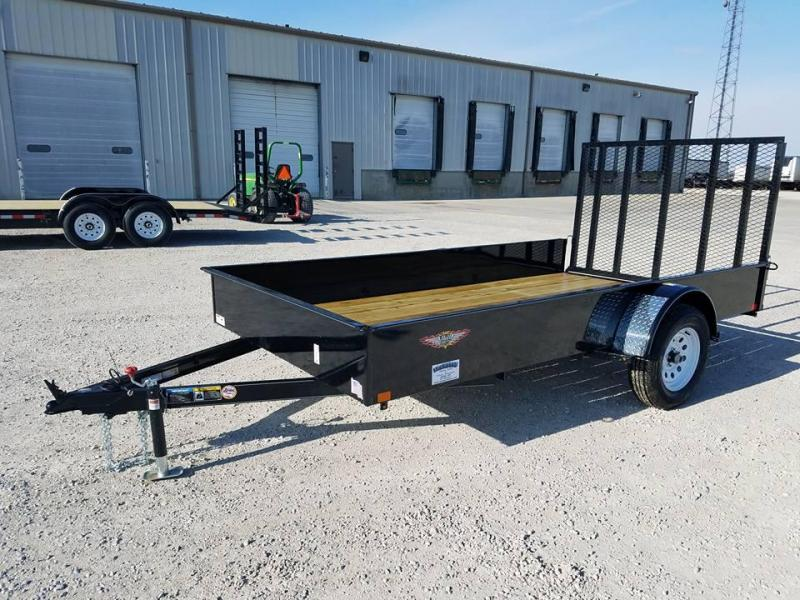2018 H and H Trailer 77x12 Solid Side Utility Trailer