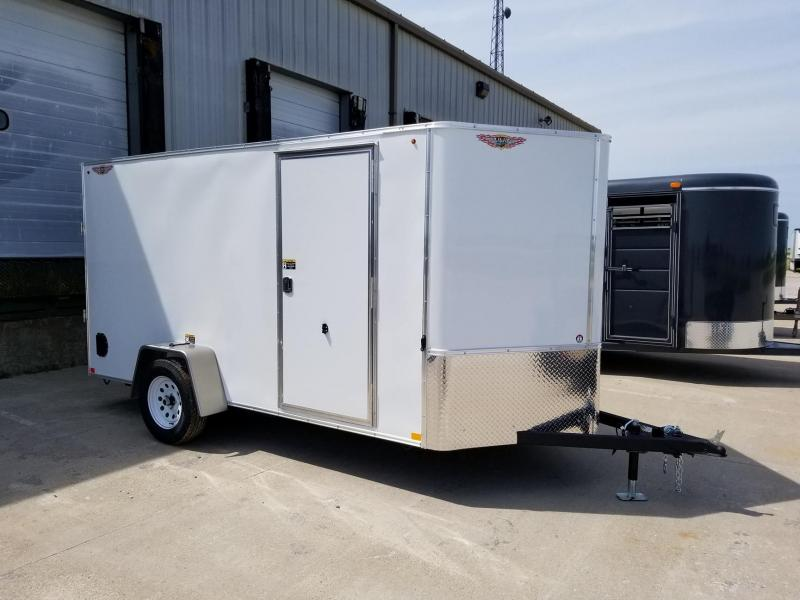 2018 H and H Trailer 6x12 Single Axle Enclosed Cargo Trailer