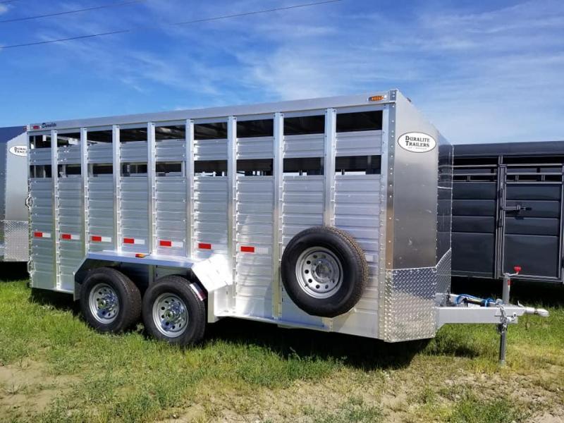 2020 Other Duralite 15ft Aluminum Bumper Pull Livestock Trailer