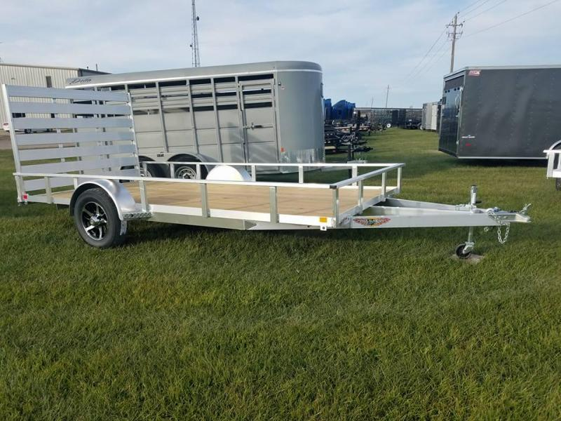 2018 H and H Trailer 82x14 Aluminum Rail Side Utility Trailer