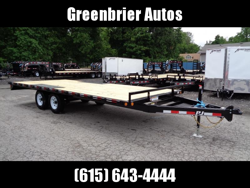 2020 PJ Trailers 20' Medium Duty Deckover 6 in. Channel Flatbed Trailer (L6)