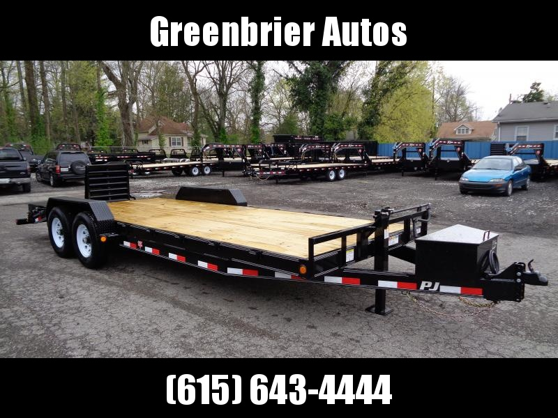 "2019 PJ Trailers 22' x 6"" Channel Equipment Trailer (CC)"