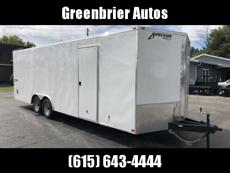 2019 Homesteader Intrepid 8.5' x 24' x 6.5' Enclosed Car Trailer