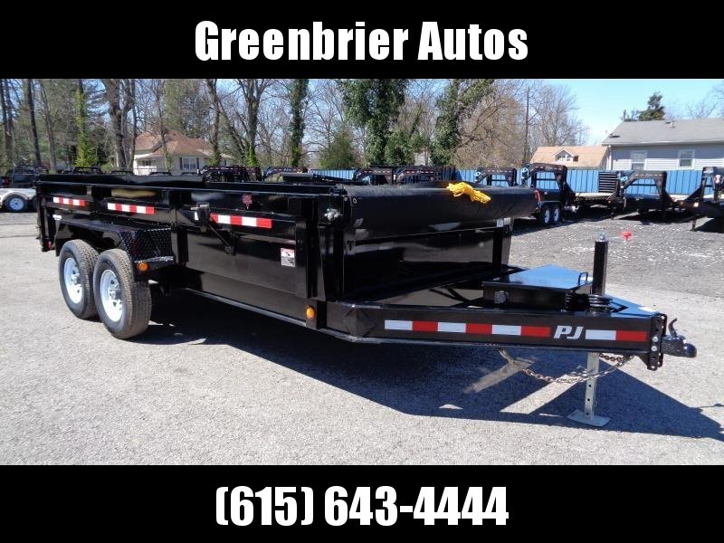 "2019 PJ Trailers 16' x 83"" Low Pro Dump (DL)"