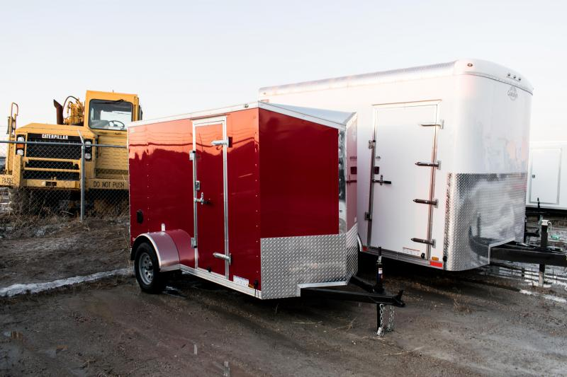 2021 Cargo Mate 5 x 10 Enclosed Cargo Trailer 3K Ramp