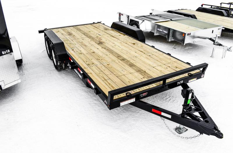 2018 Sure-Trac 7 X 18 Wood Deck Car Hauler 10k