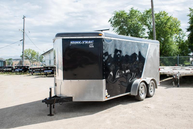 2012 Sure-Trac 7 x 14 Round Top V-Nose Cargo Enclosed Trailer 7K