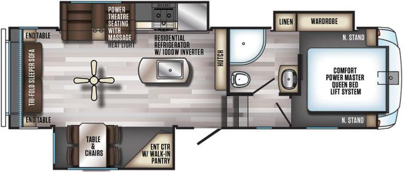 2019 Cherokee Trailers Arctic Wolf 285DRL4 Travel Trailer