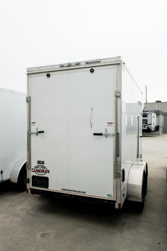 2019 Cargo Mate 6 X 12 Enclosed Cargo Trailer Ramp 7K