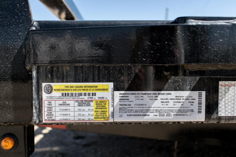 2019 Sure-Trac 8.5 X 20 14K Drive Over Fender Implement