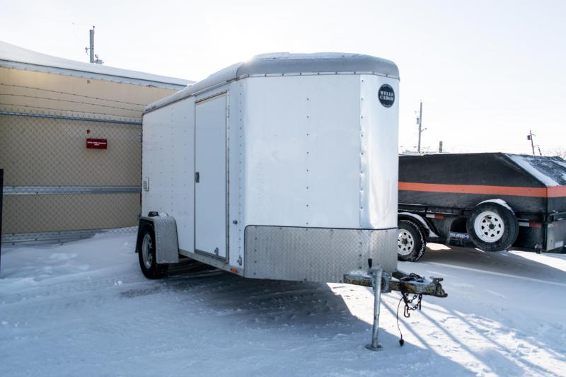 Wells Cargo 6 x 12 Enclosed Cargo Trailer V-Nose 3K