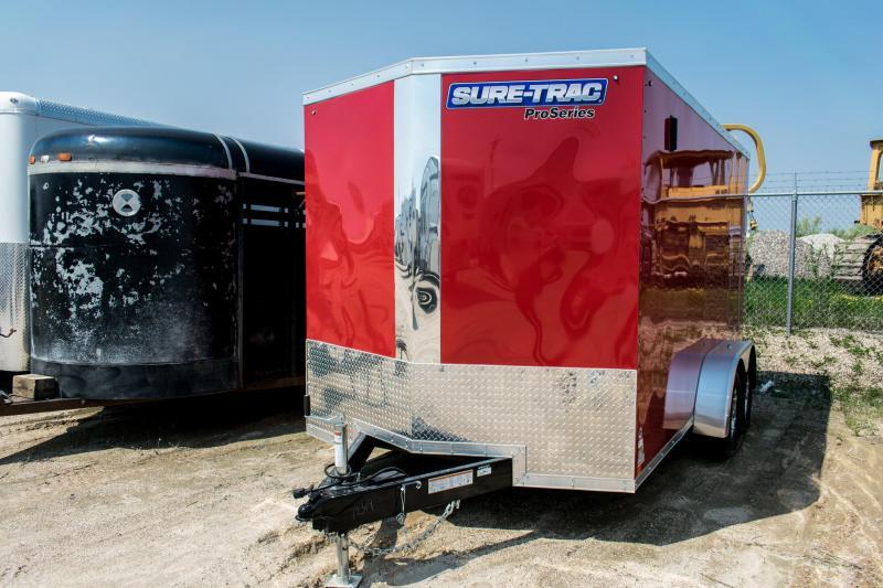 2019 Sure-Trac 7 x 14 Pro Series Wedge Cargo TA 7K Ramp