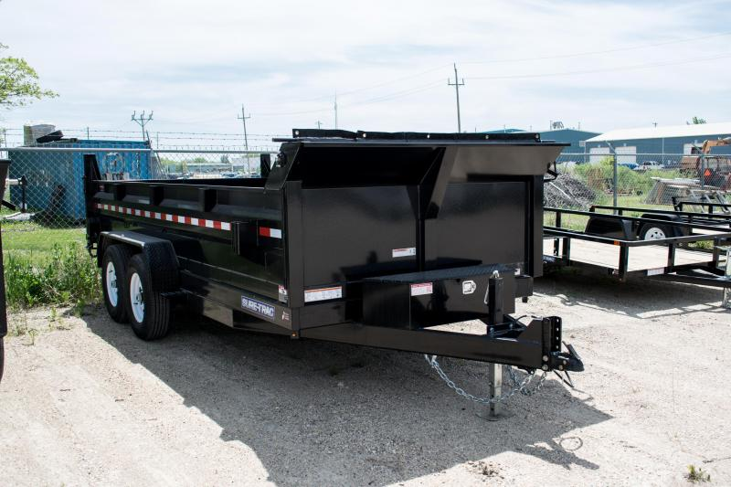 2019 Sure-Trac 82 x 16 14K HD Low Profile Dump w/ 4ft. Sides (Scissor Hoist) Dump Trailer