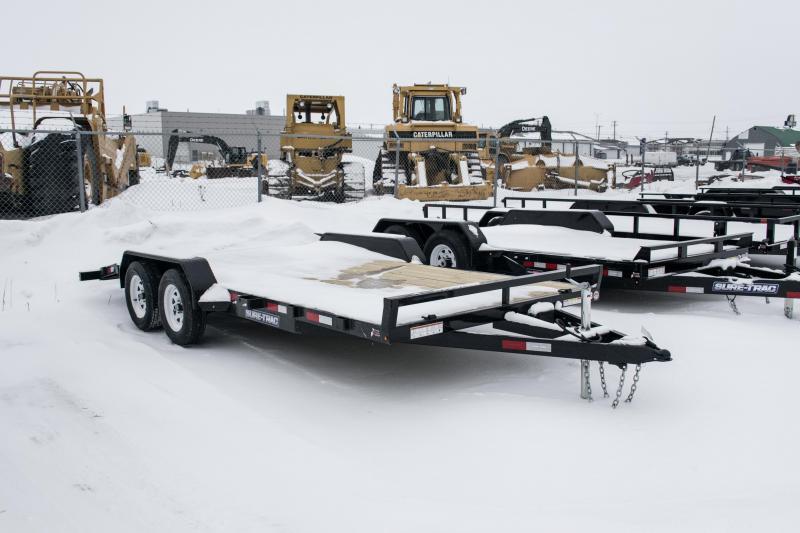 2019 Sure-Trac 7 X 18 Wood Deck Car Hauler 7k