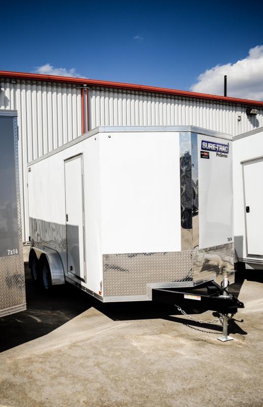 2018 Sure-Trac 7 x 14 Pro Series Wedge Cargo TA 7K Ramp