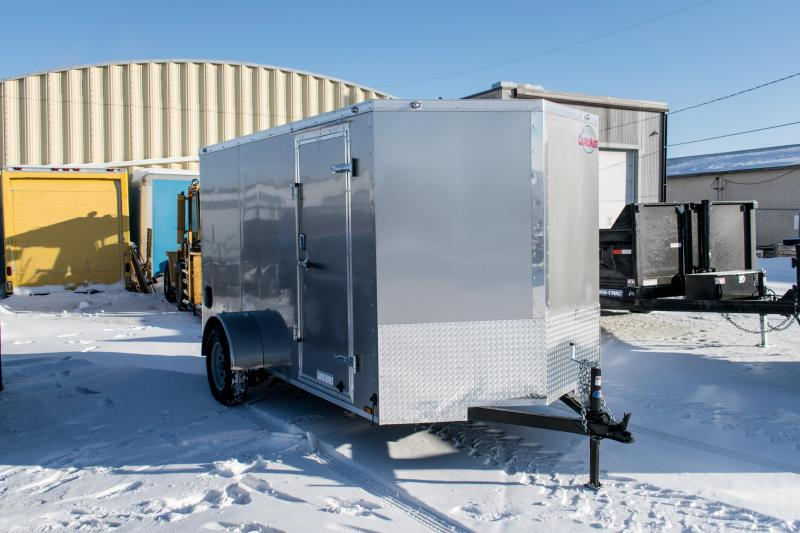 2019 Cargo Mate 6 x 12 Enclosed Cargo Trailer 3K Ramp
