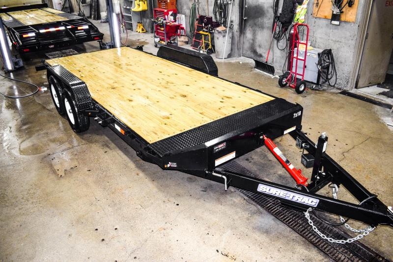 2018 Sure-Trac 7 x 18 Tilt Bed Car Hauler 10k