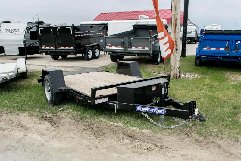 2019 Sure-Trac 78 x 12 Tilt Bed Equipment Single Axle 10K