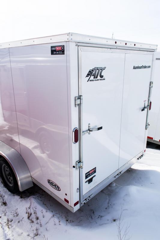 2017 ATC Cargo 7 x 16 Aluminum Enclosed Cargo Trailer 7K Ramp