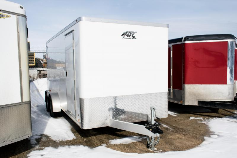 2017 ATC Cargo 7 x 16 Aluminum Enclosed Cargo Trailer 7K Ramp