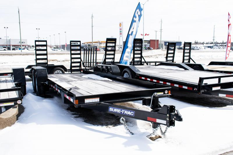 2020 Sure-Trac 7 X 20 14K Skid Steer Equipment Trailer