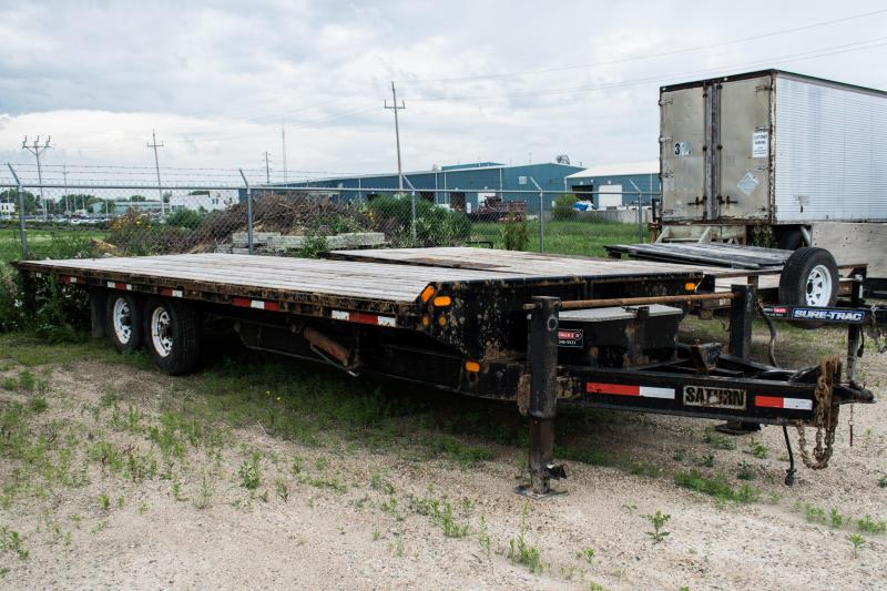 2011 Saturn Industries 8.5 X 25 Power Tilt Flatbed Trailer 14K