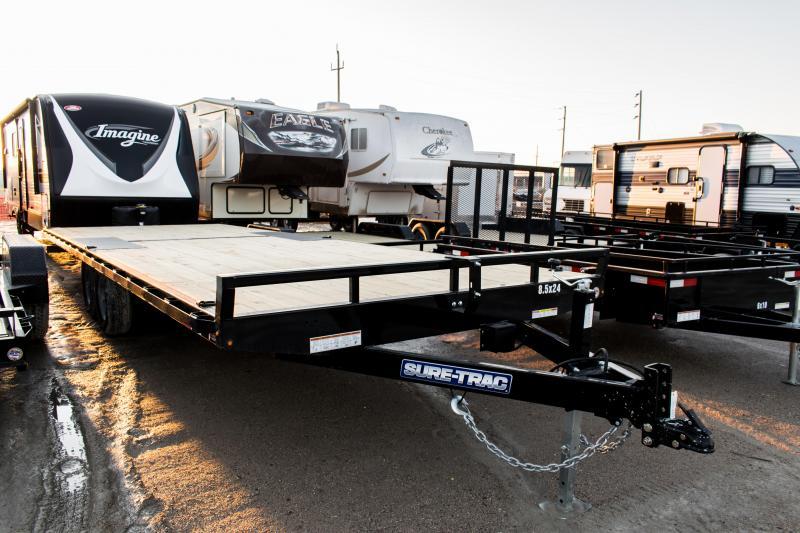 2020 Sure-Trac 8.5 X 24 Flat Deck Deckover  10K