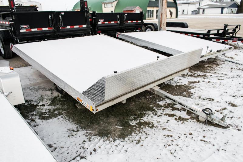 2017 Snopro 10 Lite-E Snowmobile Trailer 2 Place Tilt Aluminium