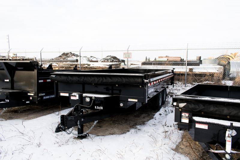 2020 Sure-Trac 8 x 16 Deckover 14K Drop Side Scissor Dump Trailer