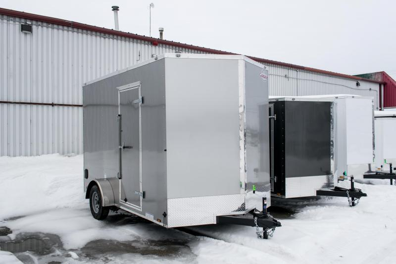 2019 Cargo Mate 7X12 Enclosed Cargo Trailer 3k Ramp