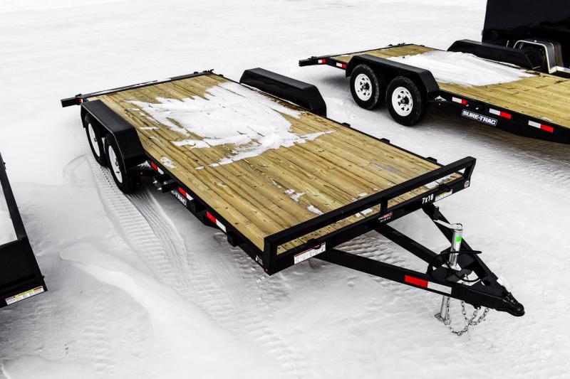 2018 Sure-Trac 7 X 18 Wood Deck Car Hauler 7k