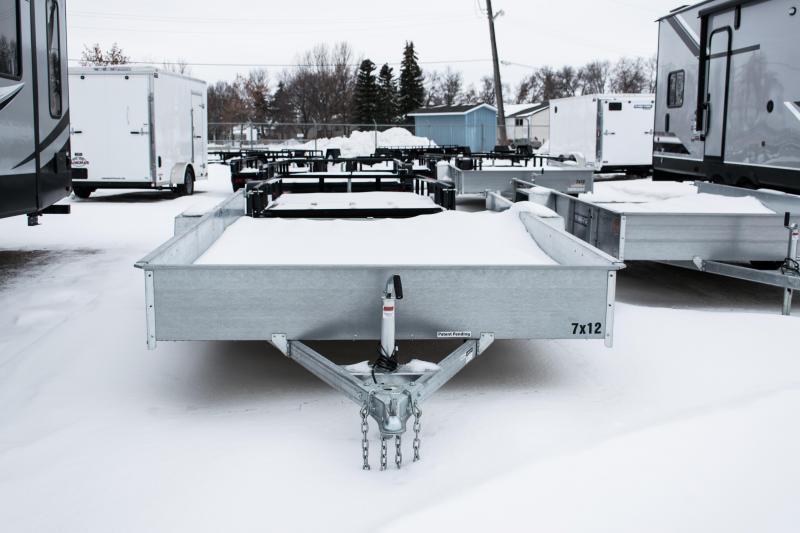2020 Sure-Trac 7 x 12 Galvanized High Side  3k Idler