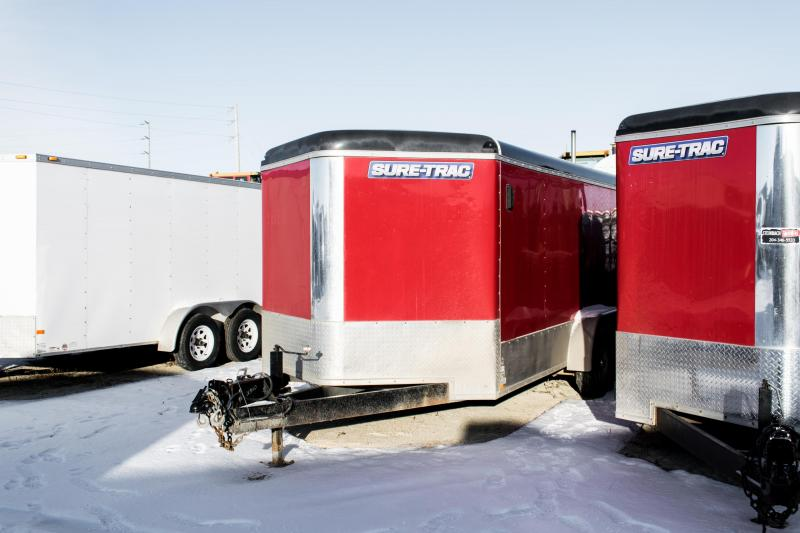 2015 Sure-Trac 7 x 16 V-Nose Cargo Enclosed Trailer 10K Barn