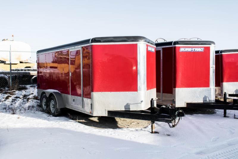 2015 Sure-Trac 7 x 16 V-Nose Cargo Enclosed Trailer 10K Barn