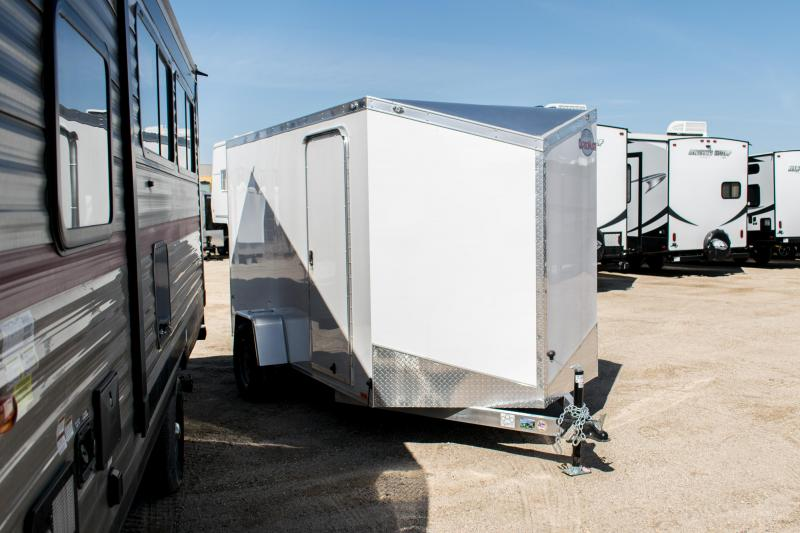 2020 Cargo Mate 6 x 12 Aluminum Enclosed Cargo Trailer 3K Ramp