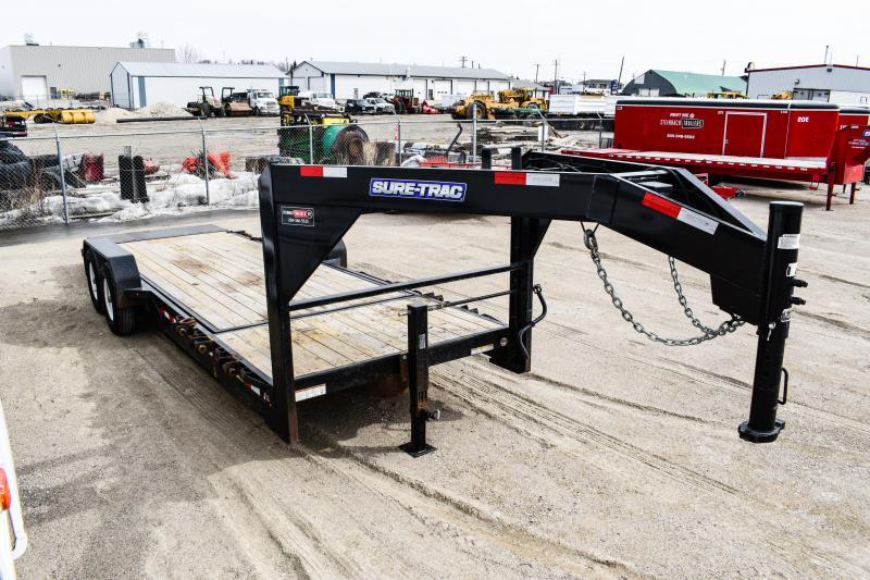 2017 Sure-Trac 7X18+4 Tilt Deck Equipment Gooseneck