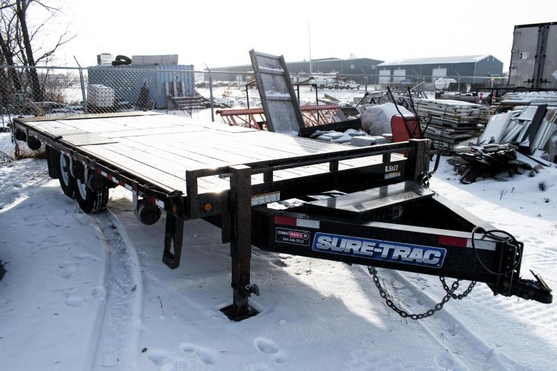 2016 Sure-Trac 8.5 x 22 15K HD Low Profile Power Tilt Deckover Flatbed Trailer